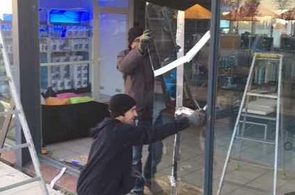Changement vitrine magasin sur Toulouse